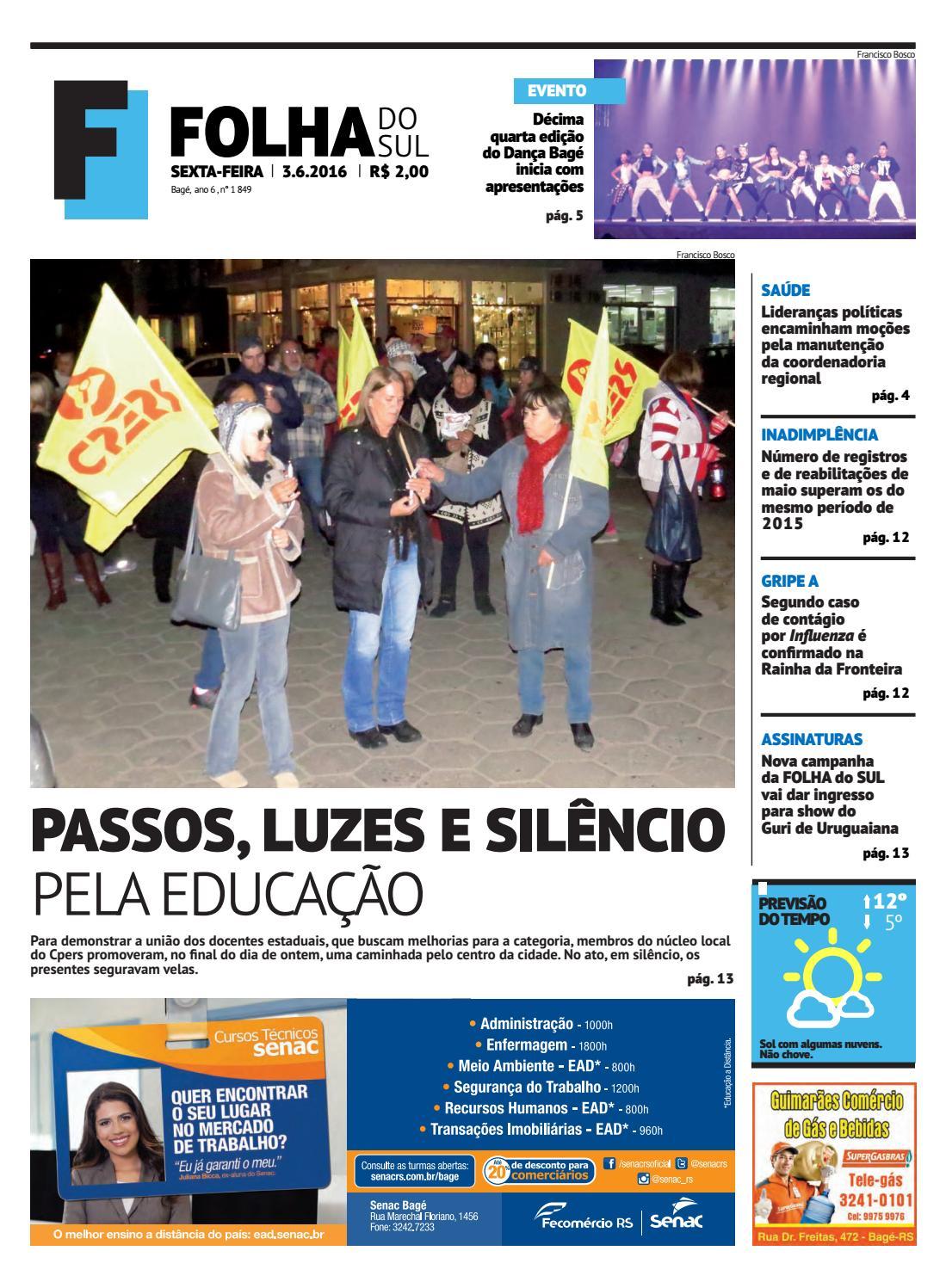 Jornal Folha do Sul, 3 de junho de 2016 by Folha do Sul Gaúcho - issuu 9e52783365