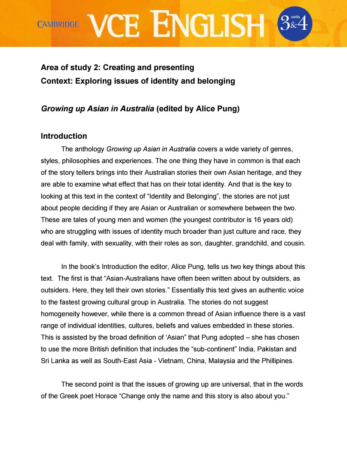 growing up asian in essay comment faire un sujet de  growing up asian in english libguides at assumption cambridge vce english units 3 4 new text