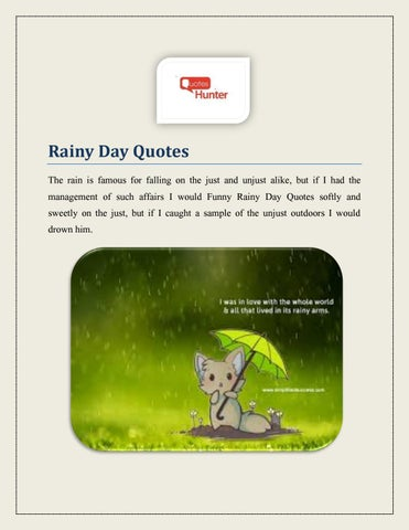 Funny Rainy Day Quotes By Quoteshunter Issuu