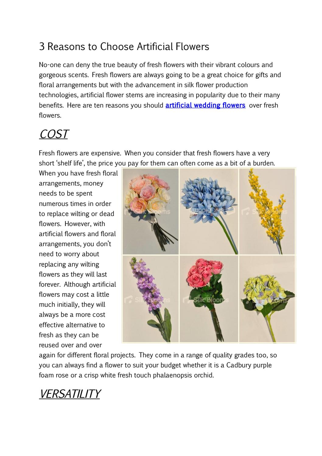 How much do fake flowers cost for a wedding flowers healthy 3 reasons to choose artificial flowers by lokesh wadhwa issuu mightylinksfo
