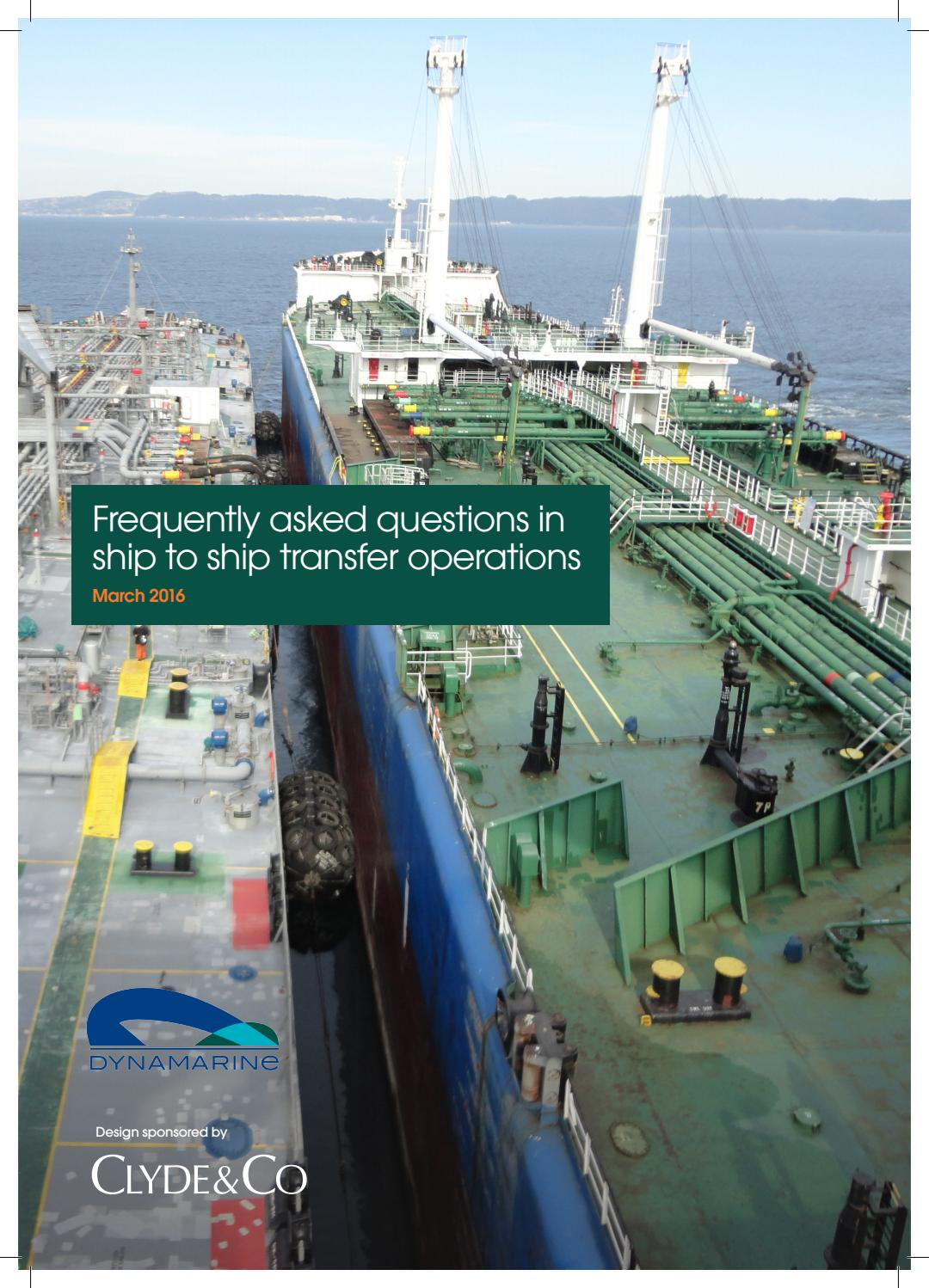 F A Q In Ship To Ship Transfer Operations By Dynamarine
