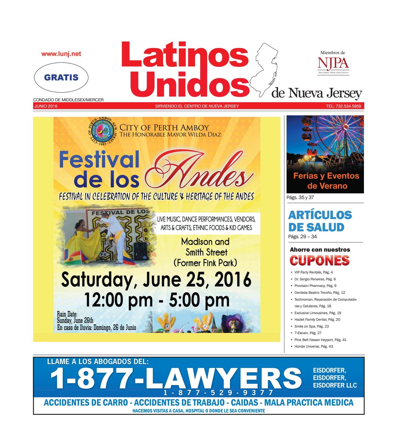 Middlesex - Mercer Junio 2016 by Latinos Unidos de NJ - issuu