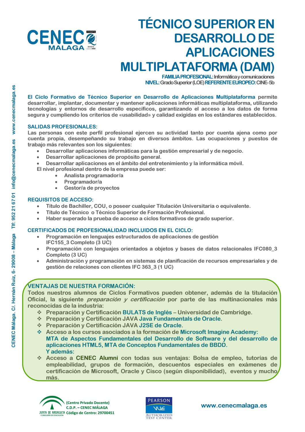 Dam Desarrollo De Aplicaciones Multiplataforma 2016 17 By