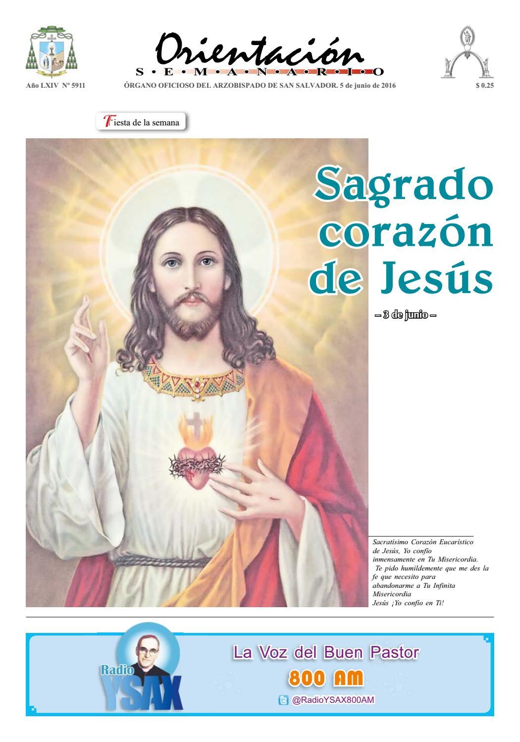4e8ebbc94e98b Orientación 05 de junio 2016 by Arzobispado de San Salvador - issuu
