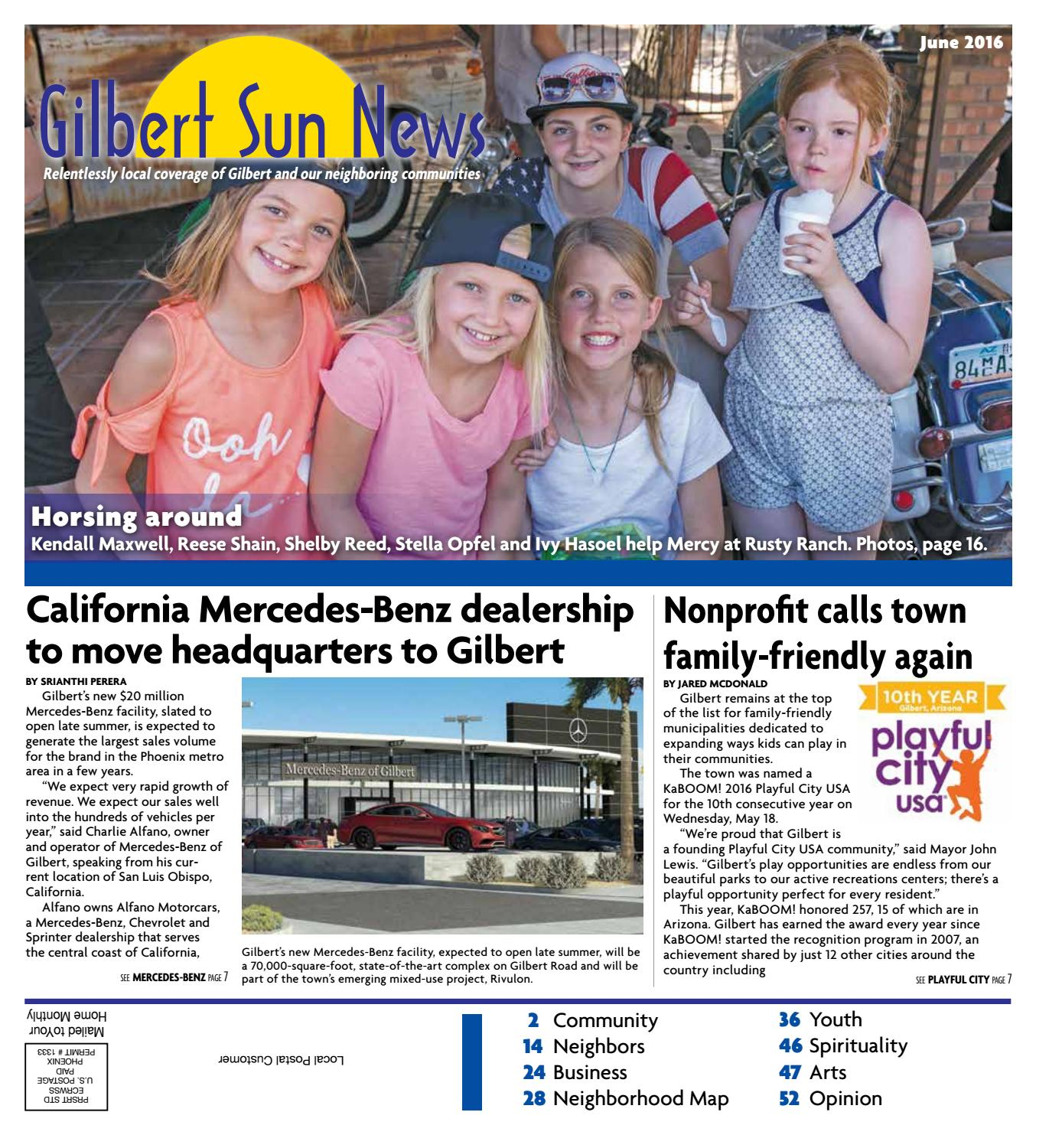 Gilbert sun news june 2016 by times media group issuu for Charlie alfano mercedes benz