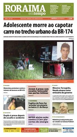 jornal roraima em tempo \u2013 edição 347 \u2013 período de visualizaçãororaimaemtempo com br boa vista, sÁbado, 4 de junho de 2016