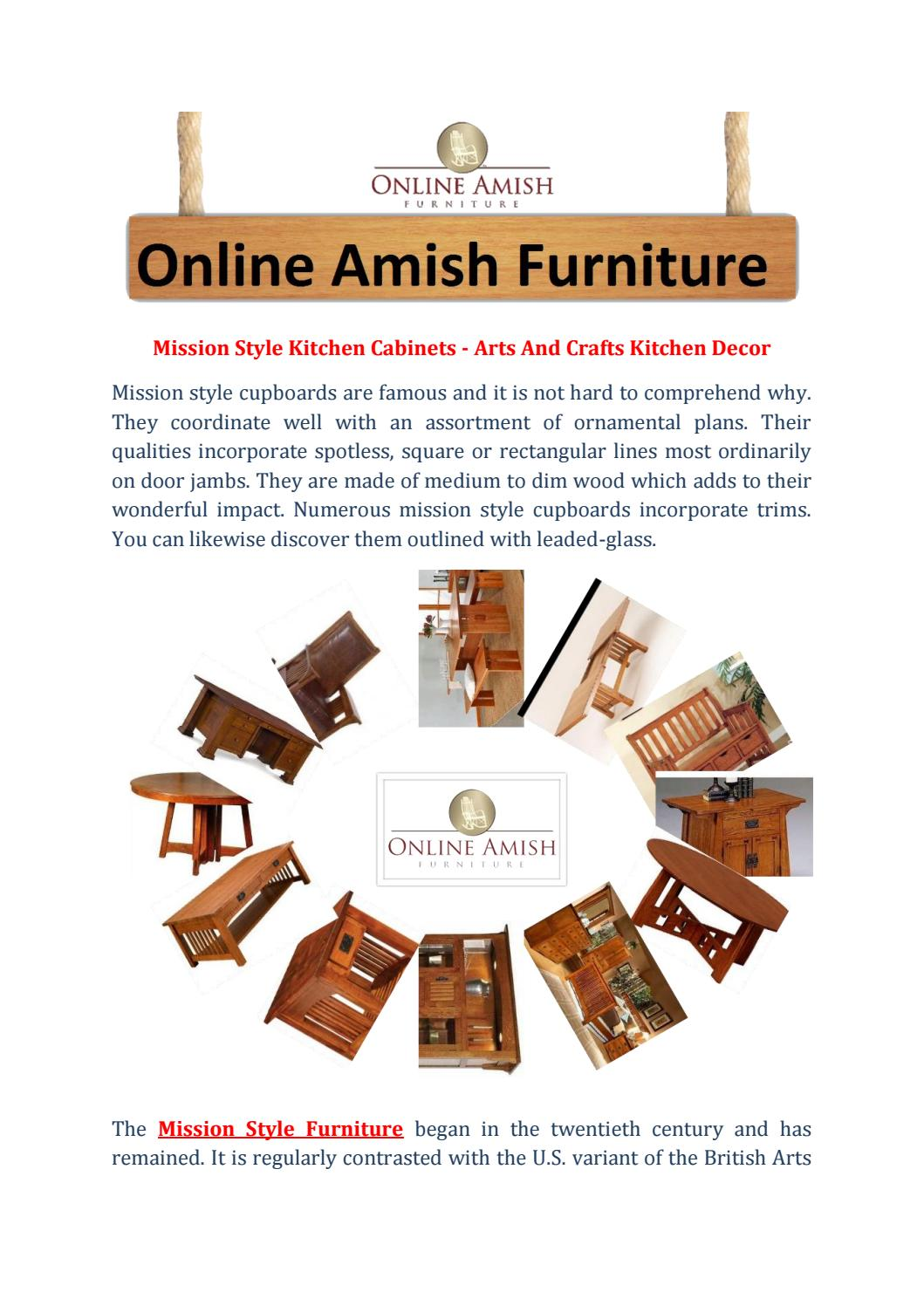 Mission Style Kitchen Cabinets Arts And Crafts Kitchen Decor By Online Amish Furniture Issuu
