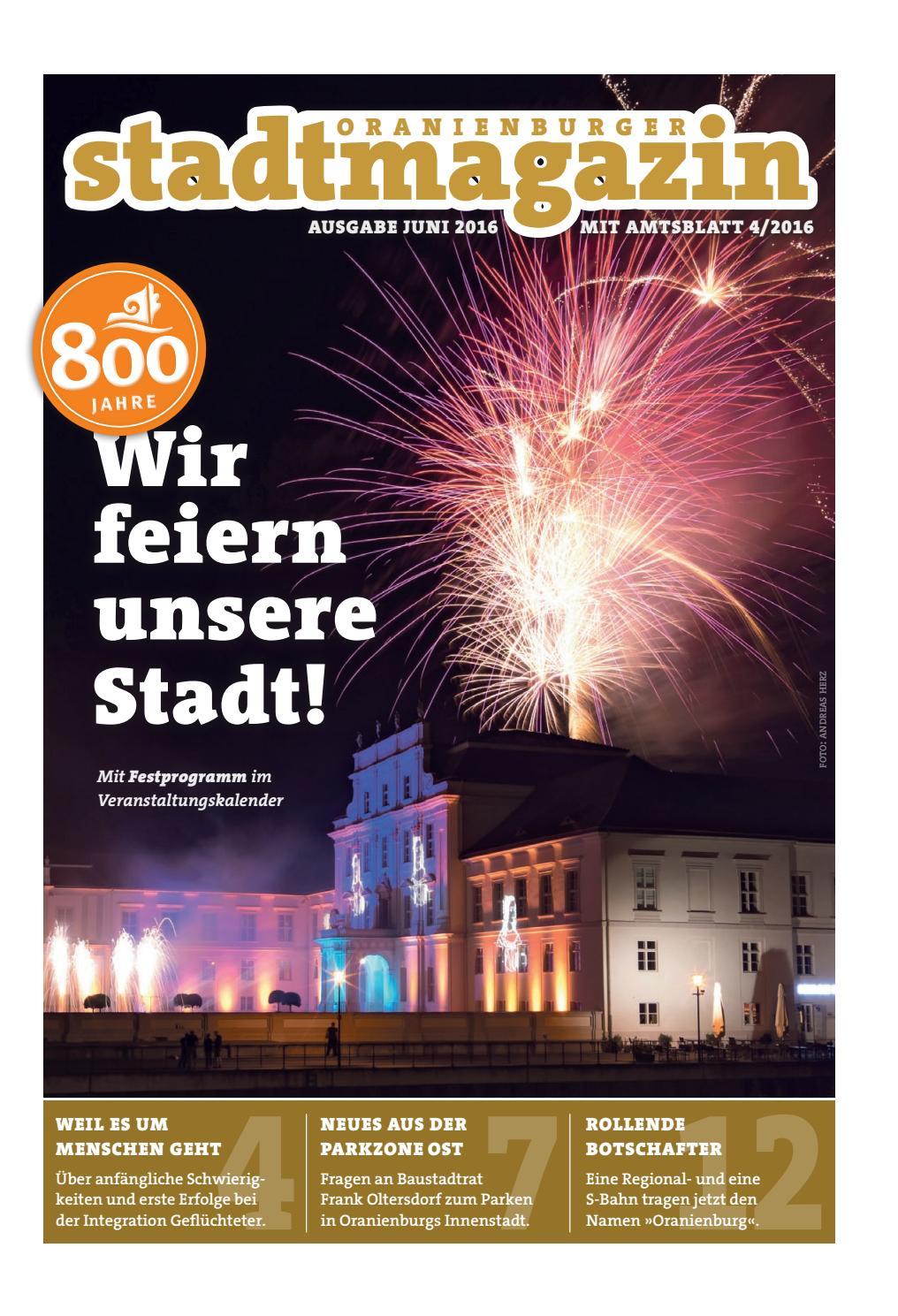 Oranienburger Stadtmagazin (Juni 2016) by Stadt Oranienburg - issuu