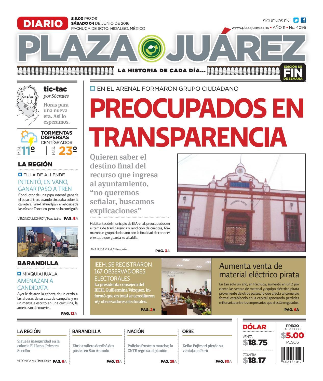 04 junio 2016 by Diario Plaza Juárez - issuu