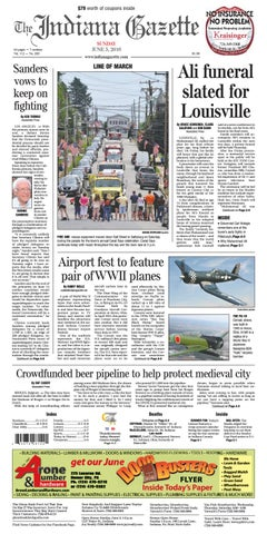 The Indiana Gazette, Sunday, June 5, 2016 by Indiana Printing