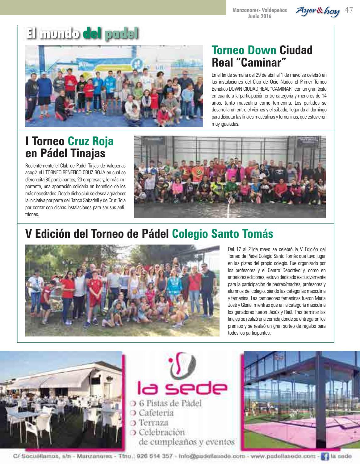 Ayer Hoy Manzanares Valdepeñas Revista Junio 2016 By