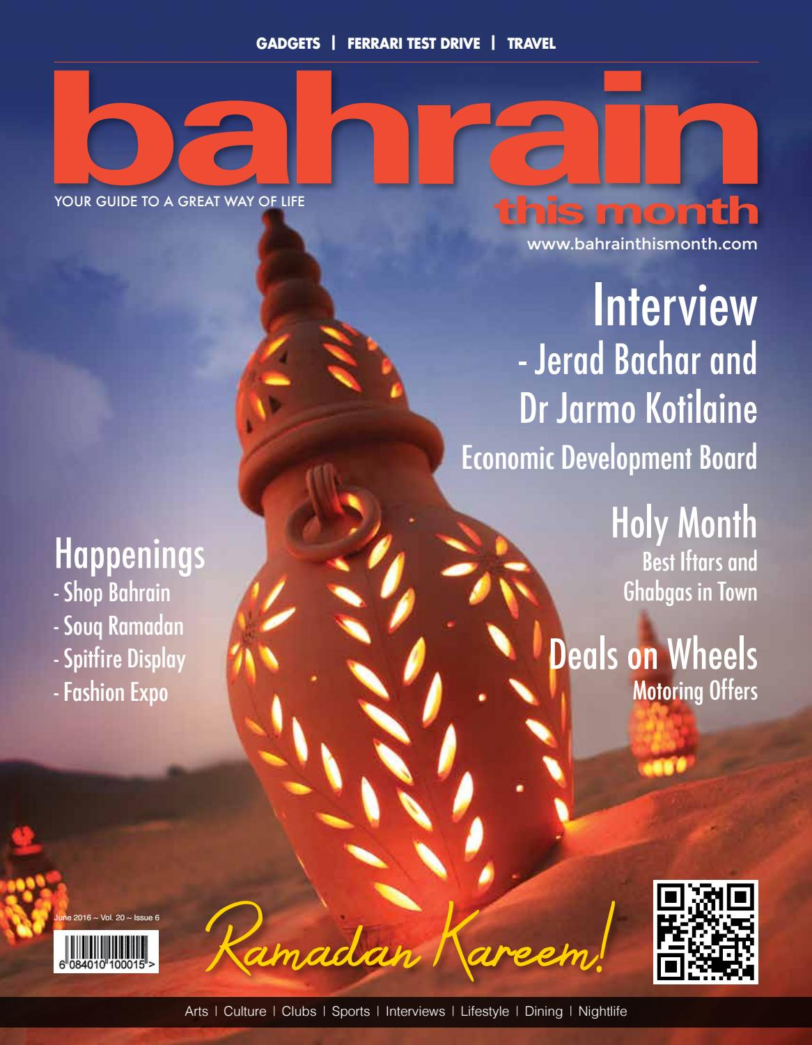 Bahrain This Month - June 2016 by Red House Marketing - issuu
