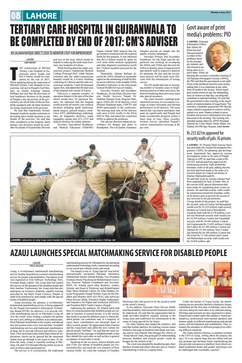 E paper pdf (6 6 2016) lhr by Pakistan Today - issuu