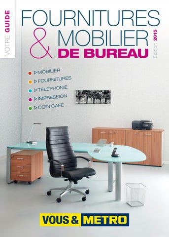 Catalogue m tro chr fournitures mobilier de bureau by for Fourniture de bureau catalogue