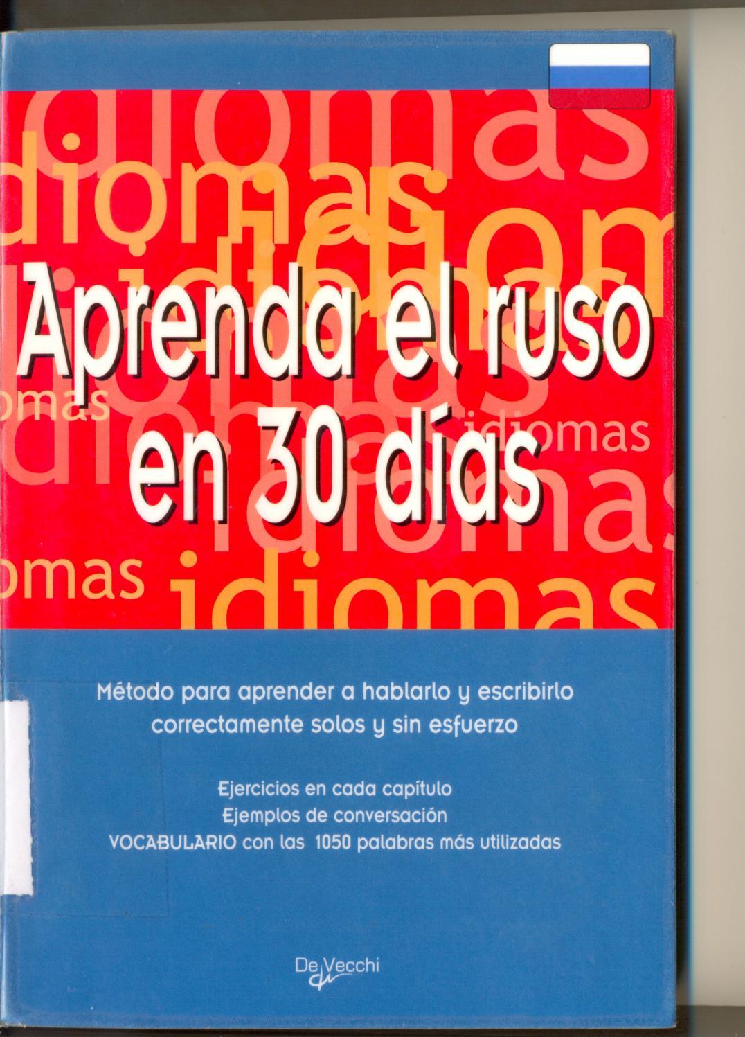 Aprenda El Ruso En 30 Dias Ribera M De Vecchi 2006 By