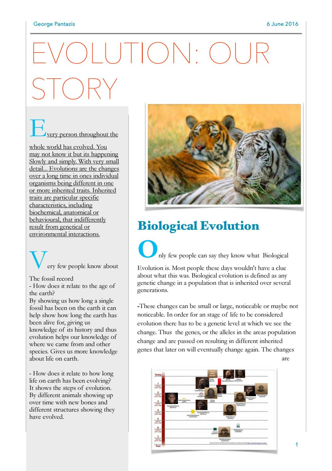 004 - Evidence for Evolution