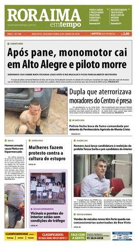 Jornal roraima em tempo – edição 348 – período de visualização ... c21bb2425b