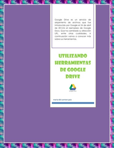 Google Drive tools by carmen paiz - issuu