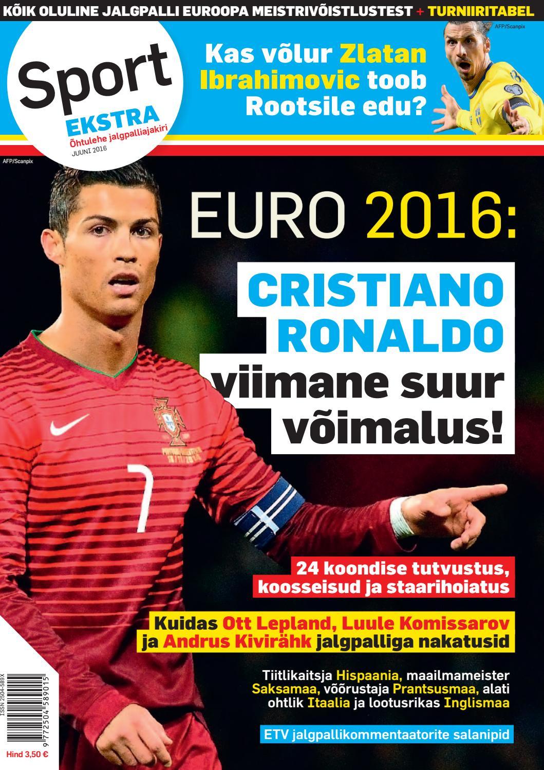 b61165637a0 Sport Ekstra/Õhtulehe jalgpalliajakiri juuni 2016 by SL Õhtuleht AS - issuu