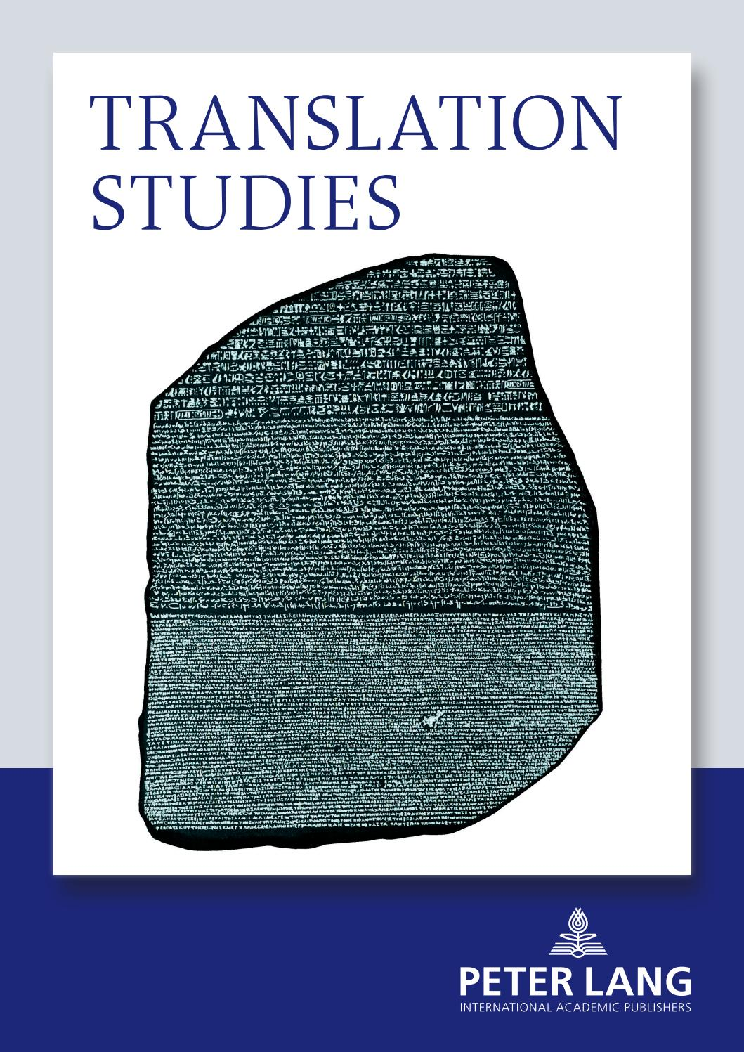 Translation Studies Catalogue 2016 By Peter Lang Publishing