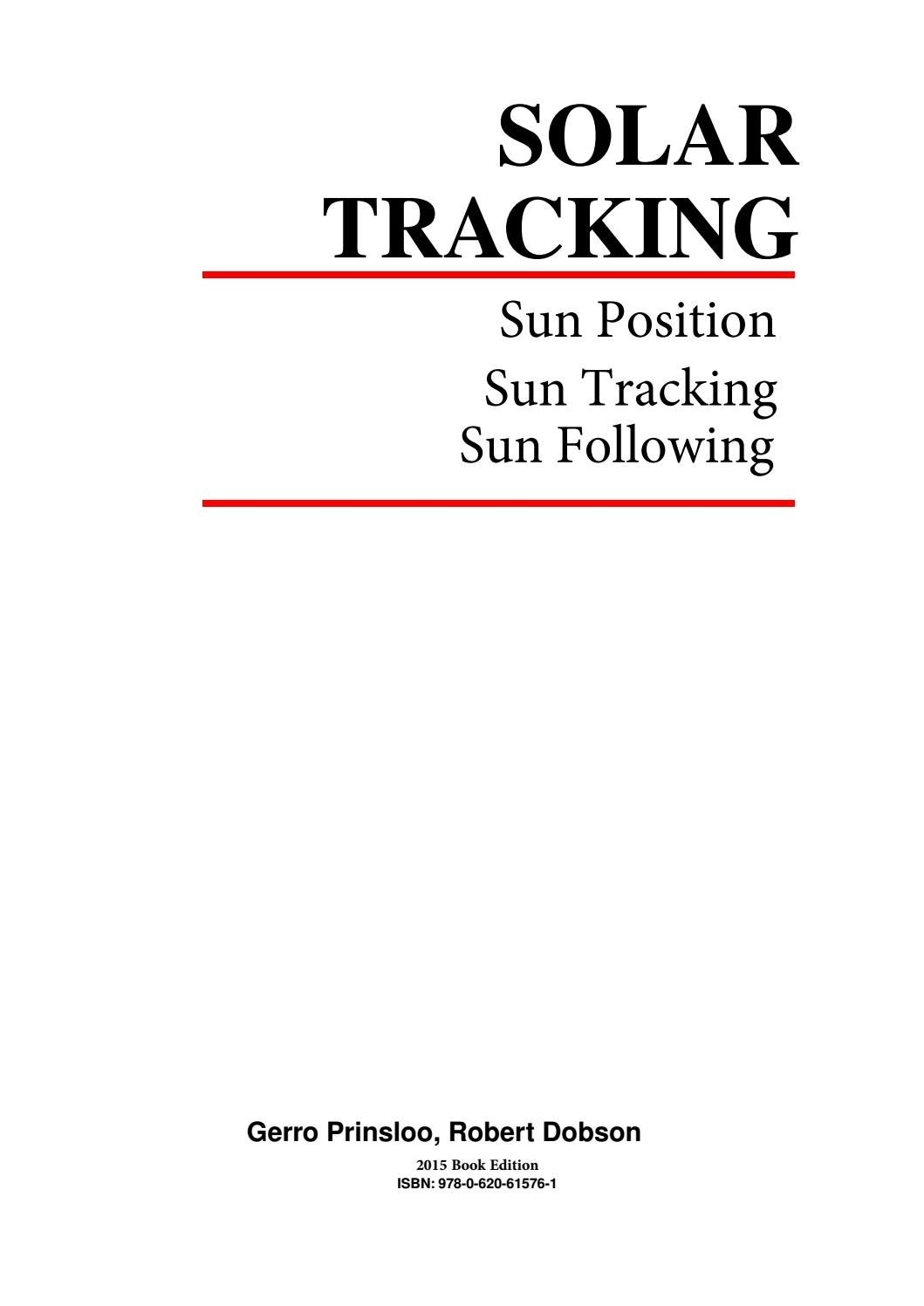 Solar Tracking Hardware n Software eBook by Gerro J Prinsloo