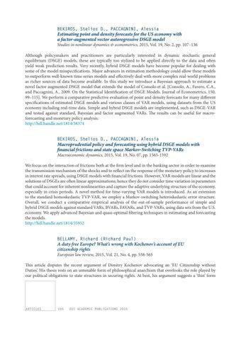 EUI Academic Publications 2015 by European University