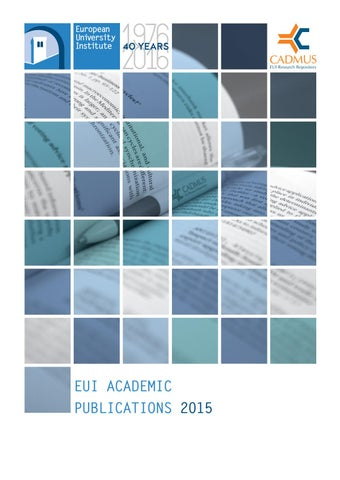 EUI Academic Publications 2015 by European University Institute - issuu b6611d17f18