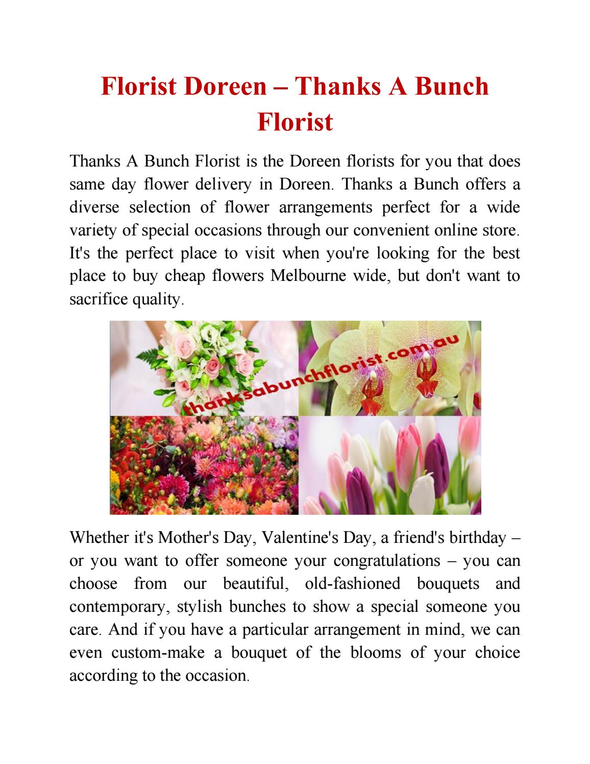 Florist Doreen Thanks A Bunch Florist By Thanks A Bunch Florist