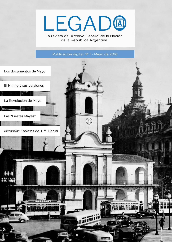 ebcd68bf9c84d LEGADO N°1  La revista del Archivo General de la Nación. by Legado  La  revista del AGN