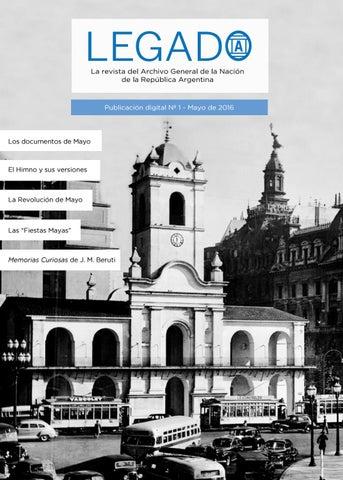 613c5001209a3 LEGADO N°1  La revista del Archivo General de la Nación. by Legado ...