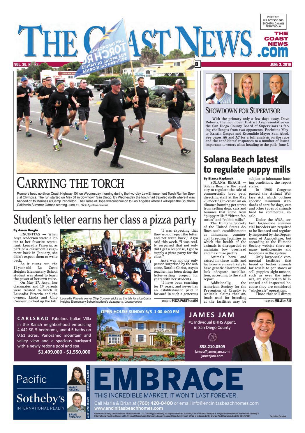 78097fc2feb The Coast News June 3, 2016 by Coast News Group - issuu