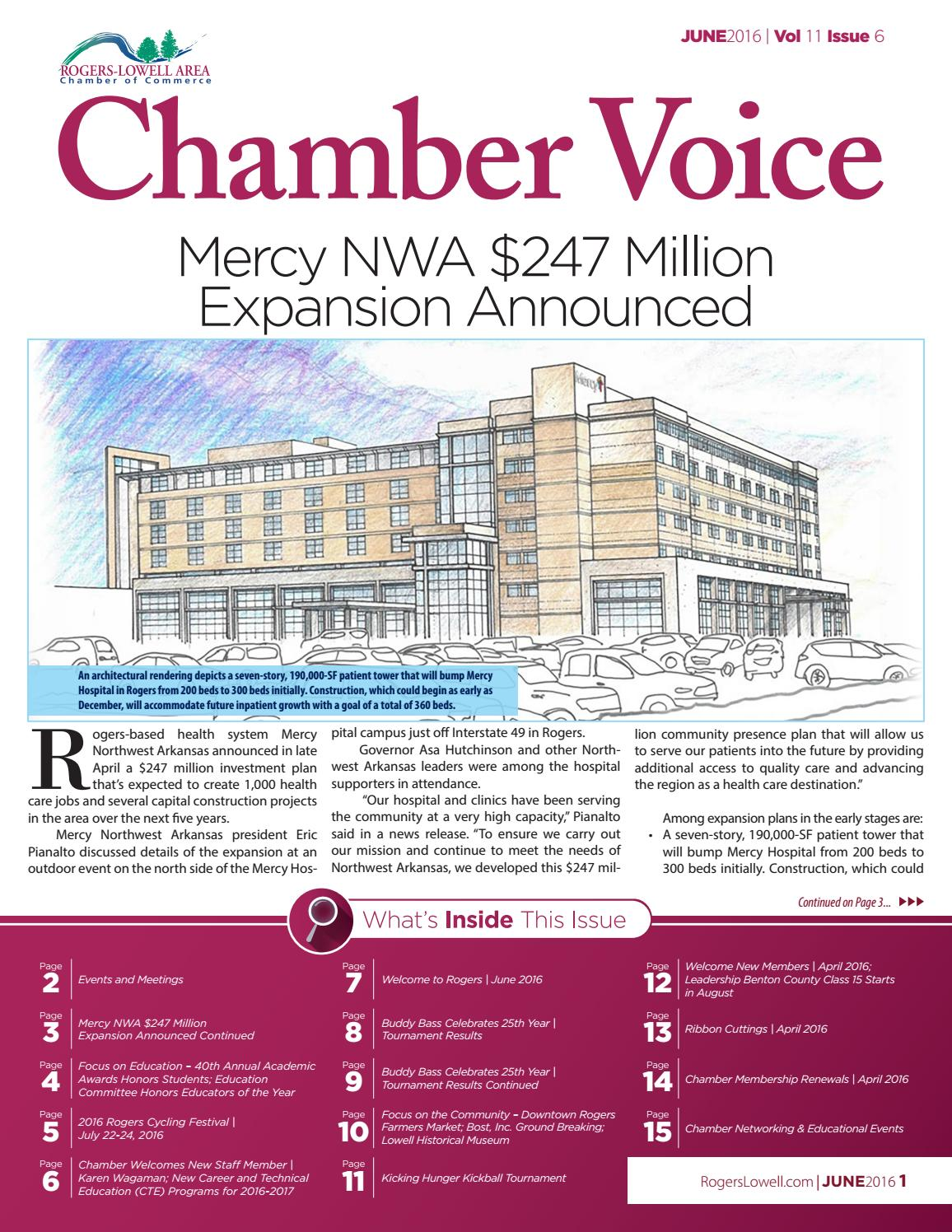 chamber voice june 2016 by rogers lowell area chamber of
