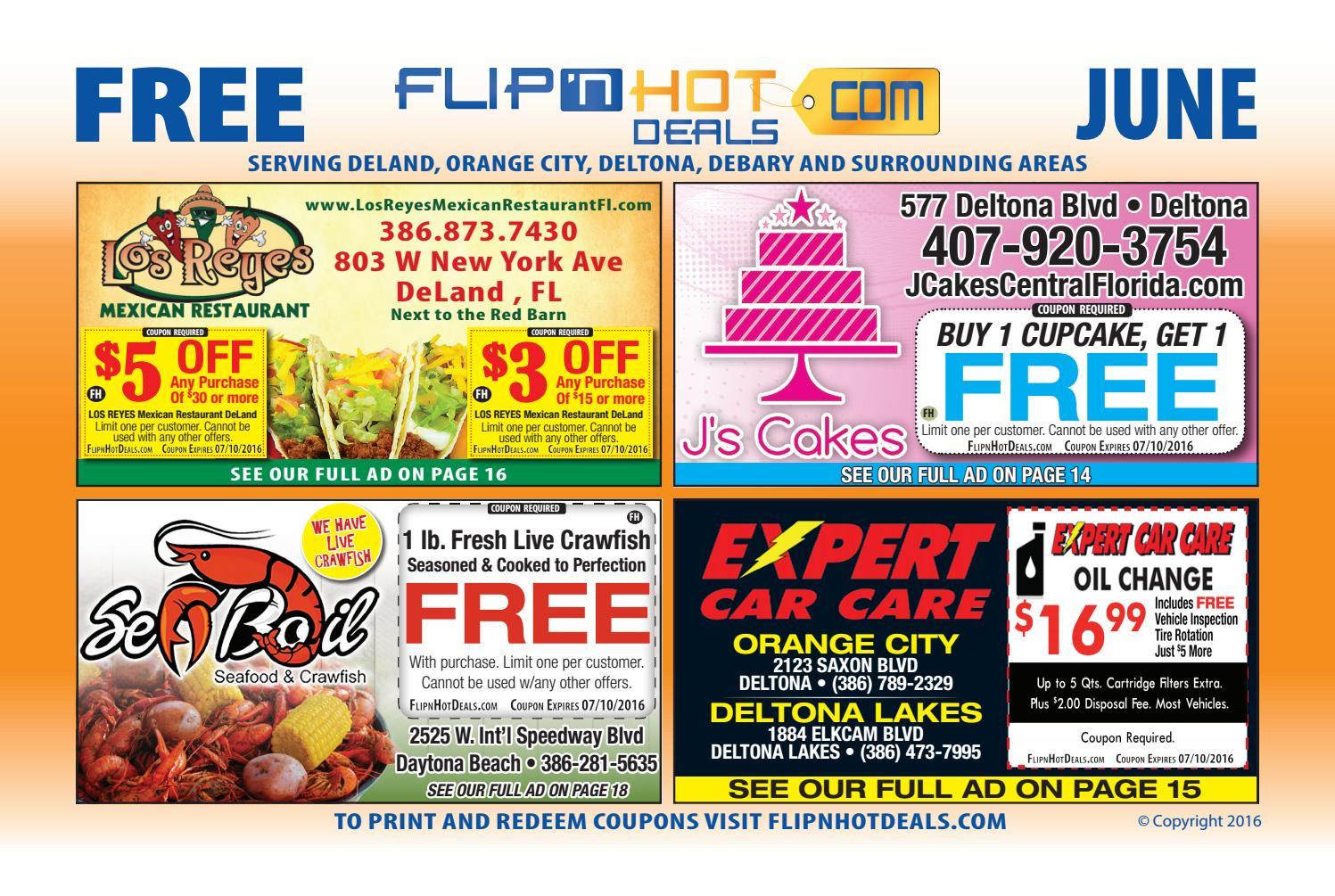 flip'nhot deals coupon book june 2016 - deland area by flip