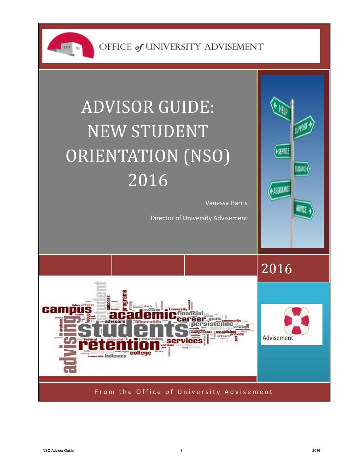2016 UNM Advisor New Student Guide by Vanessa Major Harris