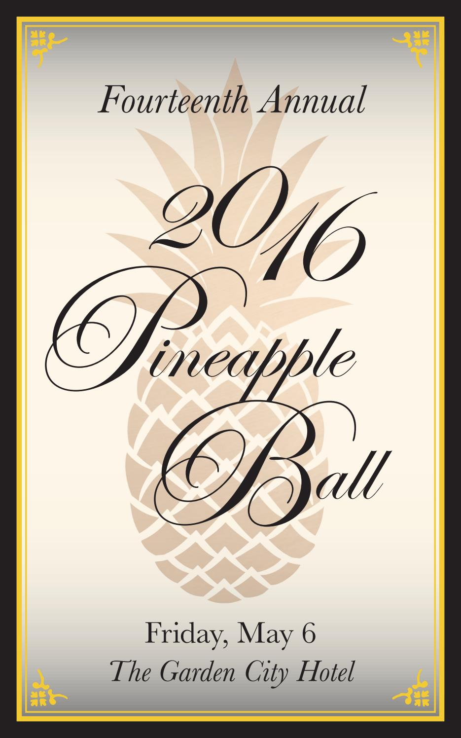 fourteenth annual pineapple ball garden city chamber of commerce 2016 by kerry goldberg issuu - Fairchild Funeral Home Garden City