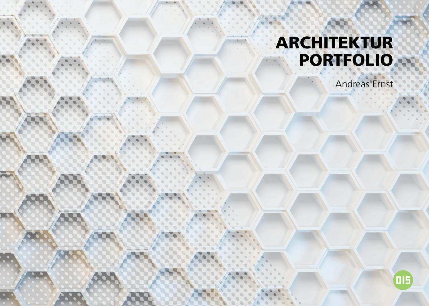 Architektur portfolio andreas ernst 2015 by andier issuu for Portfolio architektur