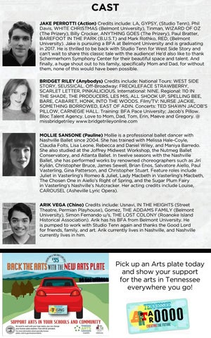 Studio tenn west side story 2016 by performing arts magazines of cast jake perrotti action credits include la gypsy studio tenn phil davis white christmas belmont university tinman wizard of oz the prizery altavistaventures Images