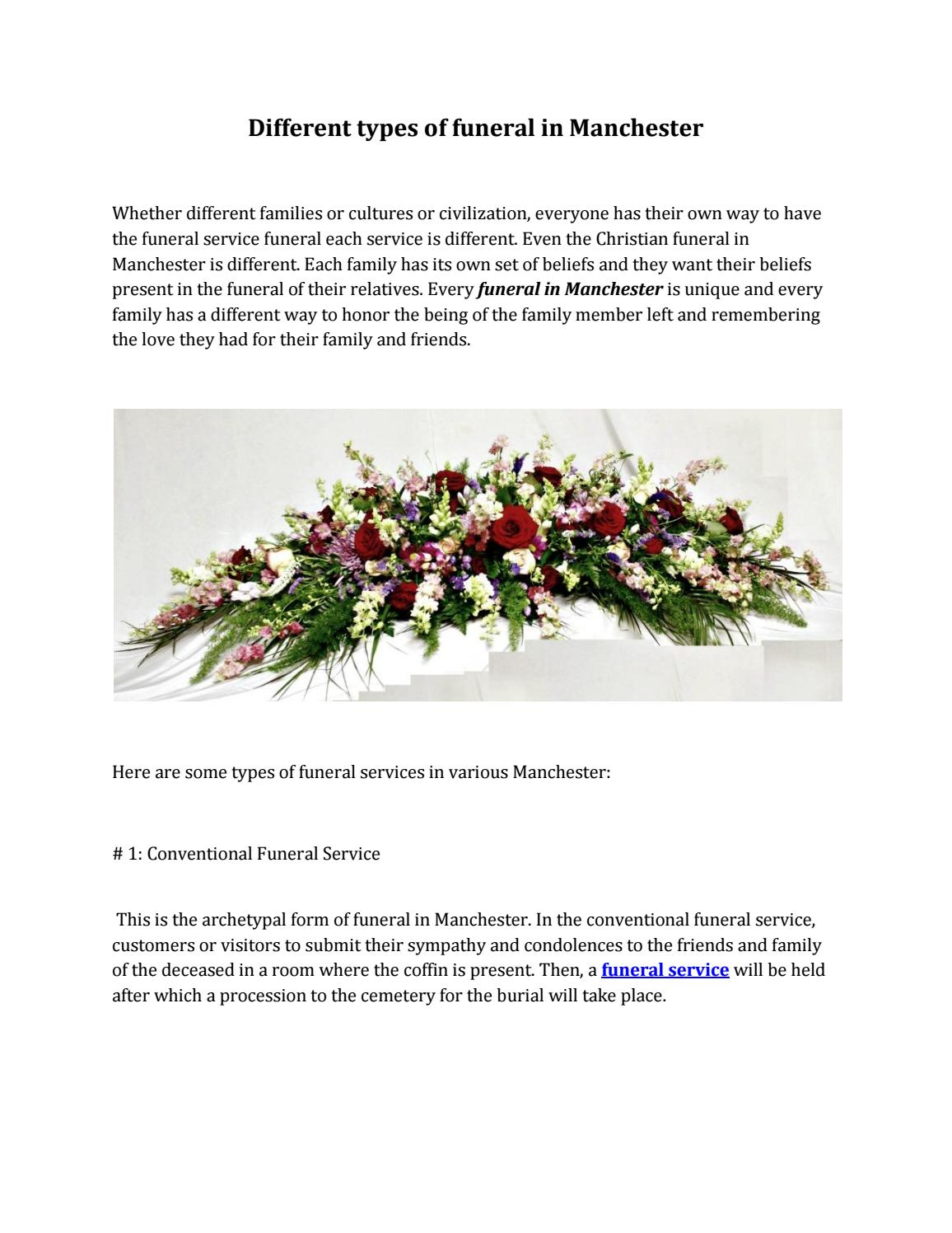 Different Types Of Funeral In Manchester By Paul Miller Funerals Issuu