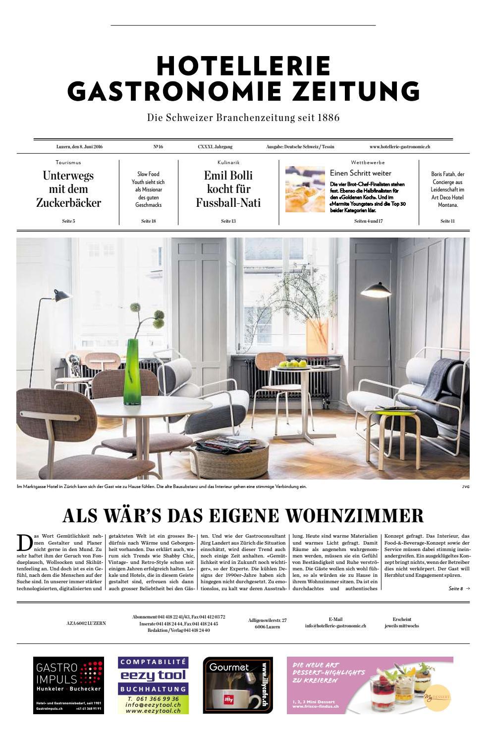 HG-Zeitung 16/2016 by Hotellerie_Gastronomie_Verlag - issuu