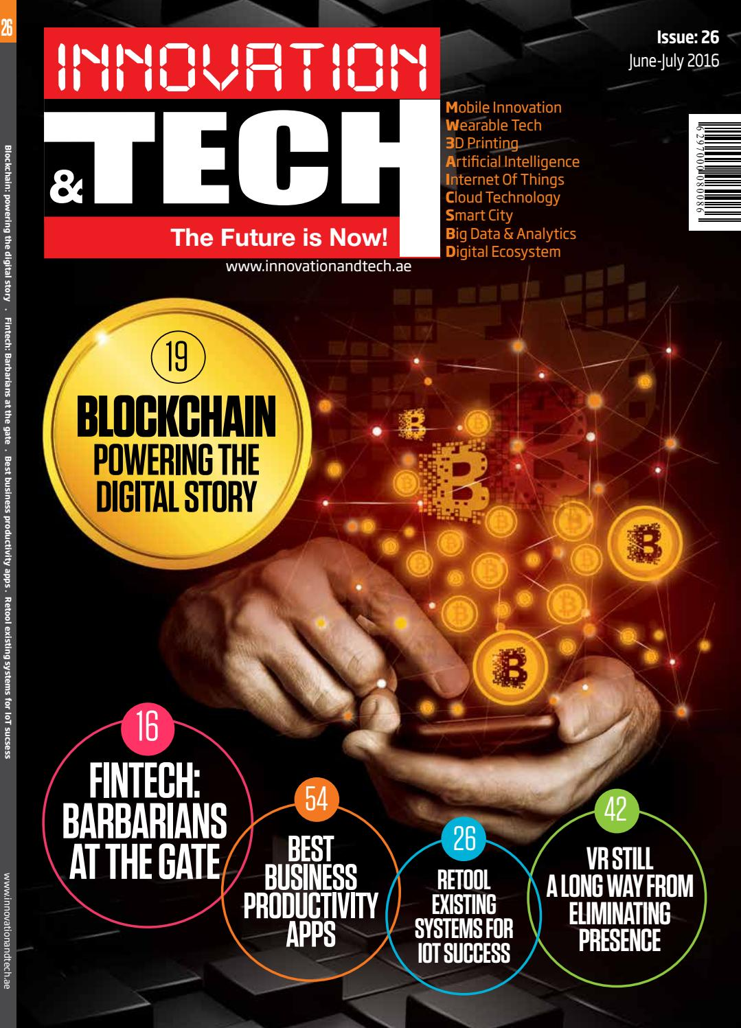 Innovation Amp Tech June 2016 Issue 26 By Spi Publishing
