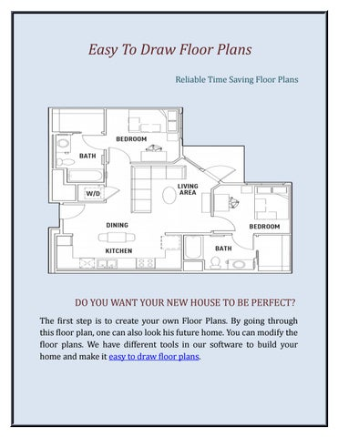 Easy to draw own floor plans by floorplan maker issuu for Easy floor plan drawing