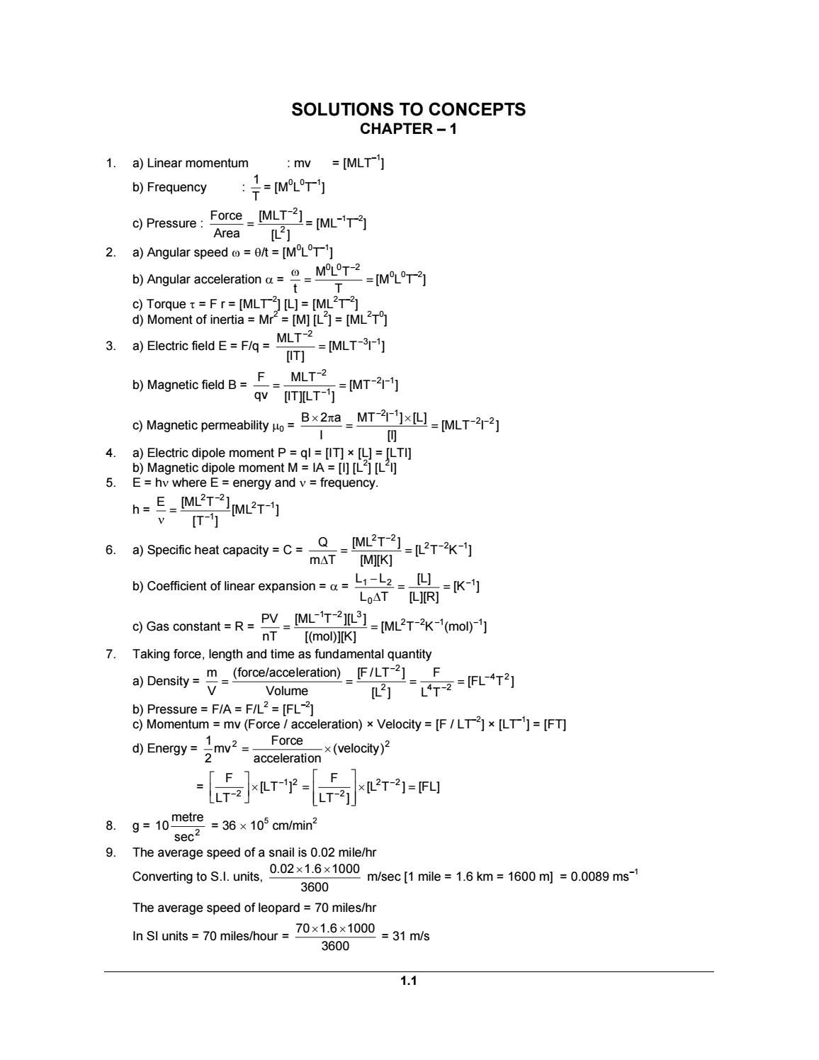 H c verma part 1 solution by SYSTEM OF AVINASH - issuu