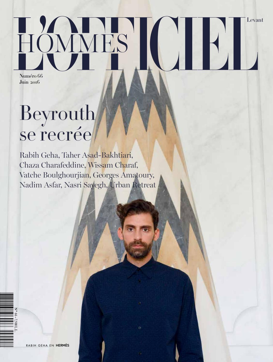 aa3a210cddcd L Officiel Hommes-Levant, June Issue 66 by L Officiel Levant - issuu