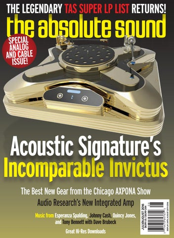Acoustic Signature Invictus turntable review - the absolute sound by