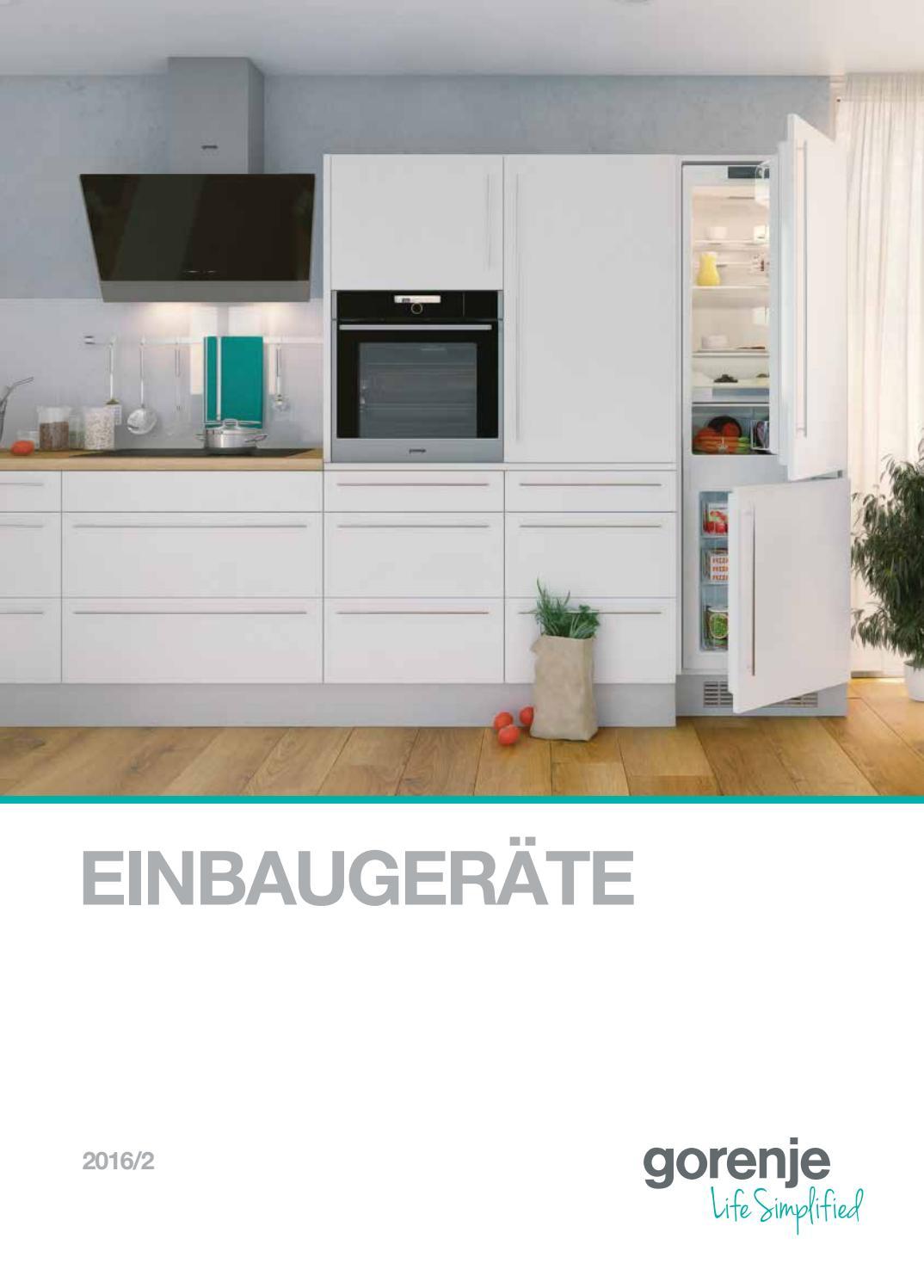 Katalog einbaugeräte Gorenje 2016 by Gorenje d.d. - issuu