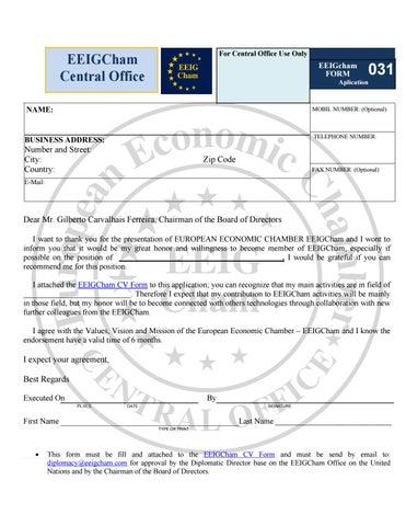 Form 031 en recomendation letter installer board application ...
