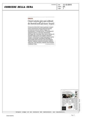 Rassegna stampa 2015 by Osservatorio Permanente Giovani-Editori - issuu 93b44cc165c