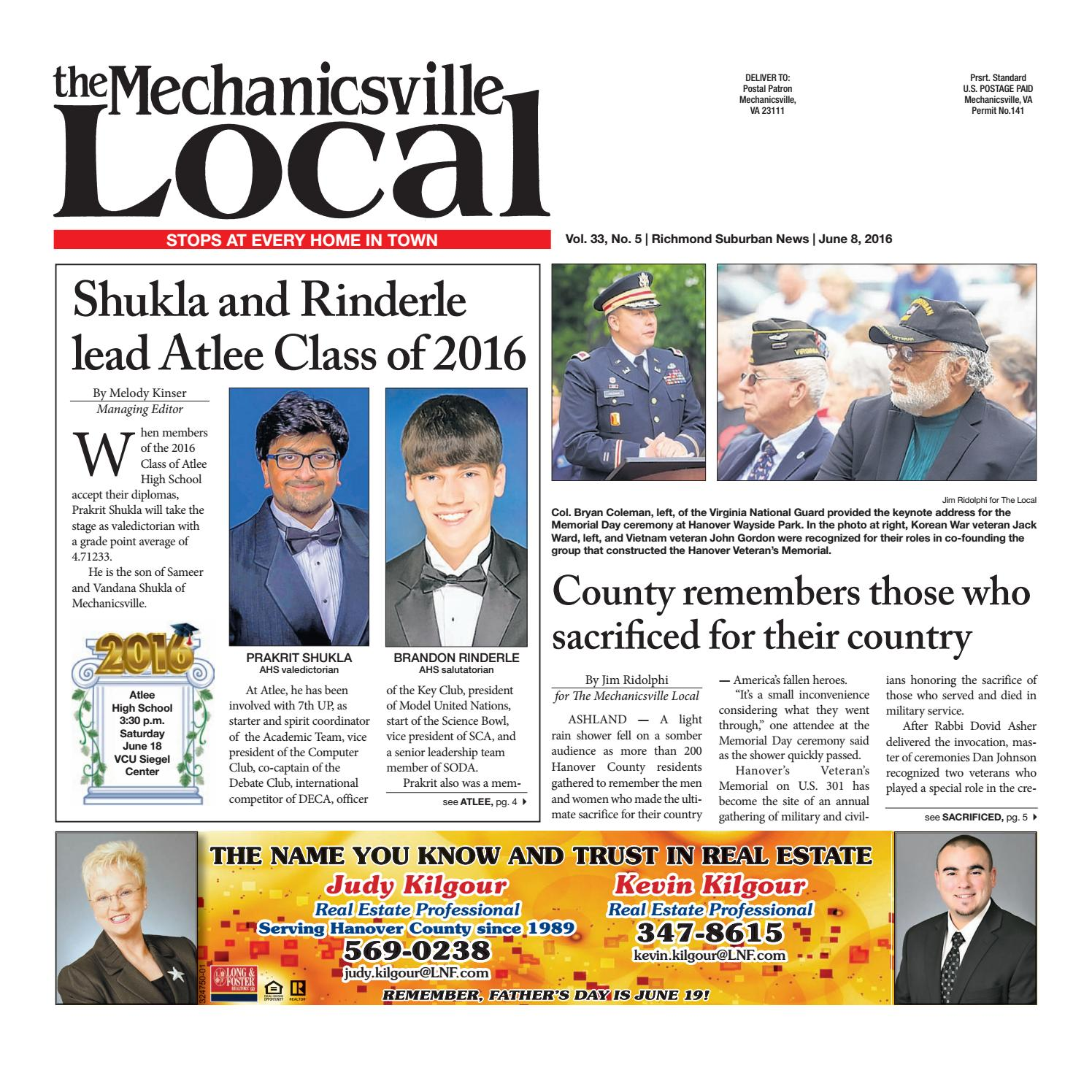 06/08/16 by The Mechanicsville Local - issuu