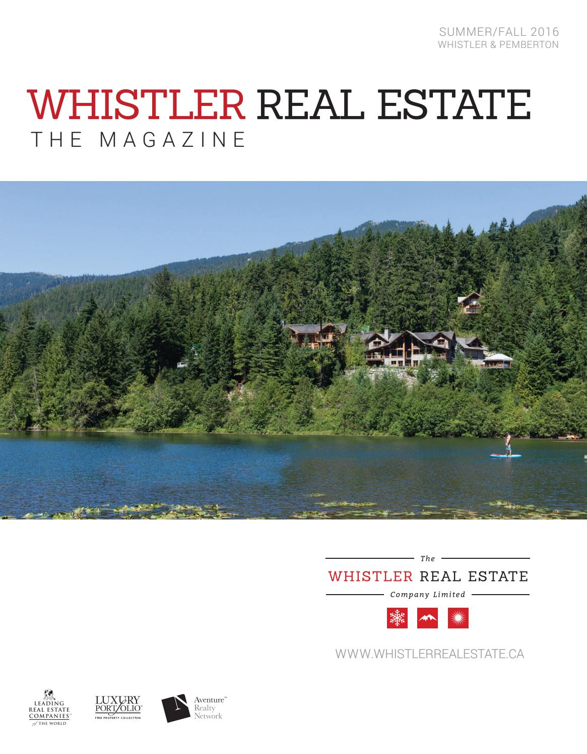 Whistler Real Estate The Magazine   Summer 2016 By WhistlerRealEstate    Issuu