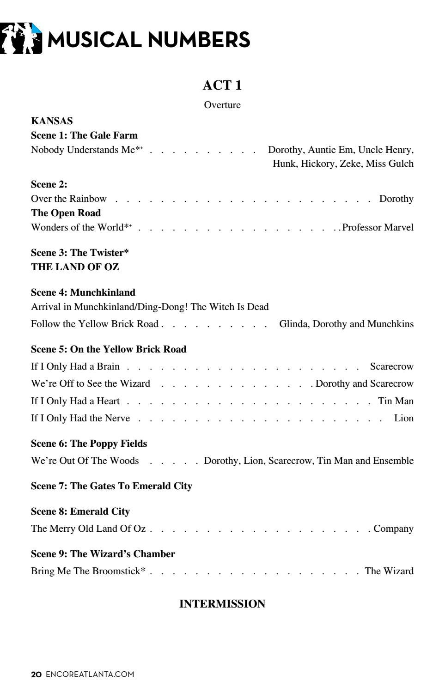 FOX ENCORE :: JUNE 2016 – The Wizard of Oz by Encore Atlanta